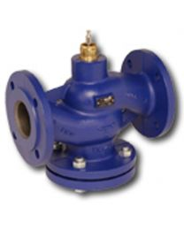 H611R - 2-way globe valve, PN6 flange, DN 15, kvs 0,63 Housing and seat gray cast iron GG25