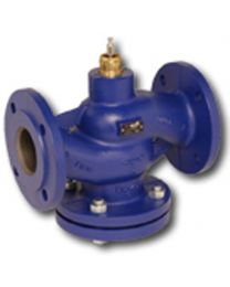 H613N - 2-way globe valve, PN16 flange, DN 15, kvs 1,6 Housing and seat gray cast iron GG25