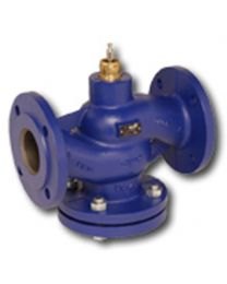 H620R - 2-way globe valve, PN6 flange, DN 20, kvs 6,3 Housing and seat gray cast iron GG25