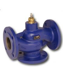 H780N - 3-way globe valve, PN16 flange, DN 80, kvs 100 Housing and seat gray cast iron GG25