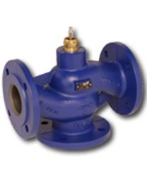 H711R - 3-way globe valve, PN6 flange, DN 15, kvs 0,63 Housing and seat gray cast iron GG25