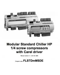 FLSTDmMSDE - Modular Standard Chiller HP 1/4 screw compressors with Carel driver